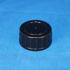 Låg sort 28 mm. F. gevindglas