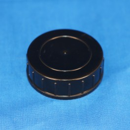 Låg sort 40 mm. F. gevindglas