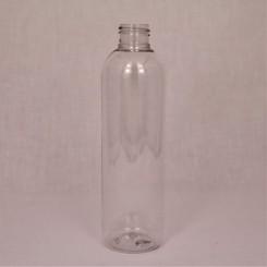 250 ml. kosmetikflaske rund høj klar f. 24 mm.