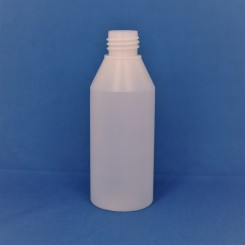 250 ml plastflaske ny rund PEHD natur f. 28 mm