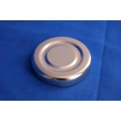 Metallåg f. Konservesglas 43 mm sølv