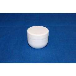 10 ml. cremekrukke enkeltvæg komplet hvid