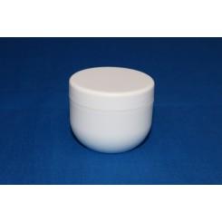 30 ml. cremekrukke enkeltvæg komplet hvid