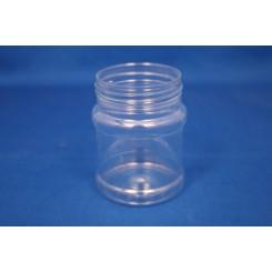 230 ml. PET Dåse rund klar f. 63 mm.
