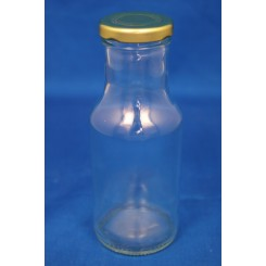 Konservesglas design rund flaske klar 250 ml.