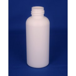 100 ml. kosmetikflaske hvid høj f. 24 mm.
