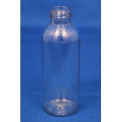 200 ml. kosmetikflaske rund høj klar f. 24 mm.