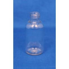 50 ml. Kosmetikflaske rund klar f. 20 mm.