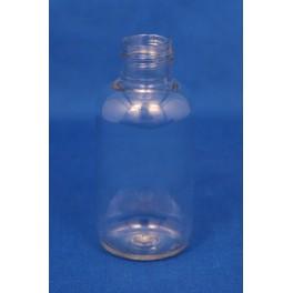 75 ml. Kosmetikflaske rund klar f. 20 mm.