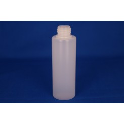 100 ml. kosmetikflaske rund frosted f. 22 mm.