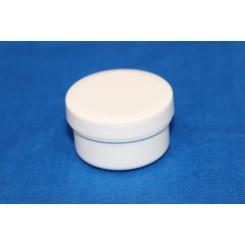 5 ml. cremekrukke enkeltvæg komplet hvid